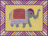 Elephant Needlepoint Design which you can buy online from All Stitched Up