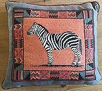 A needlepoint design called Henry, which is a zebra, from All Stitched Up