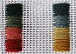 Needlepoint Shotley design colours from All Stitched Up