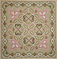 Needlepoint Design and Kit - Tudor Design by Anna Pearson