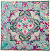 Needlepoint Design and Kit - Tudor Rose Design by Anna Pearson